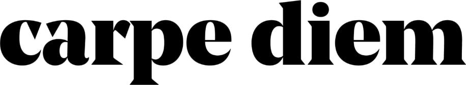 Logo of Carpe diem in black and white