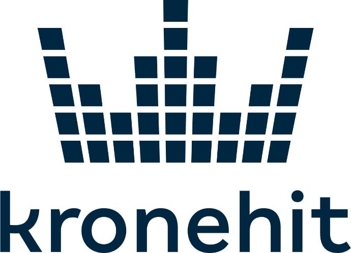 Black logo of the Radio station Kronehit
