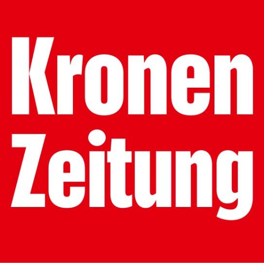 Red logo of the daily newspaper Kronen Zeitung